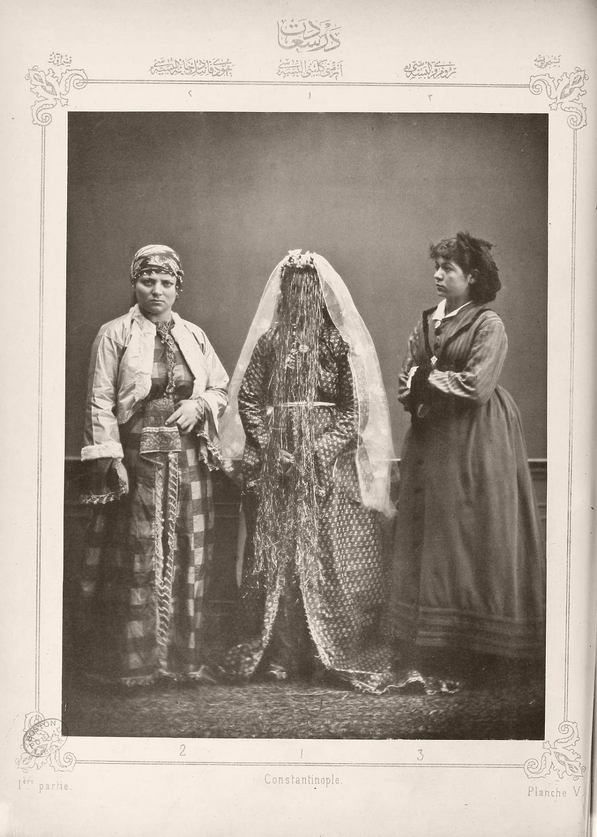 1. Armenian bride 2. Jewish woman from Istanbul 3. Greek girl