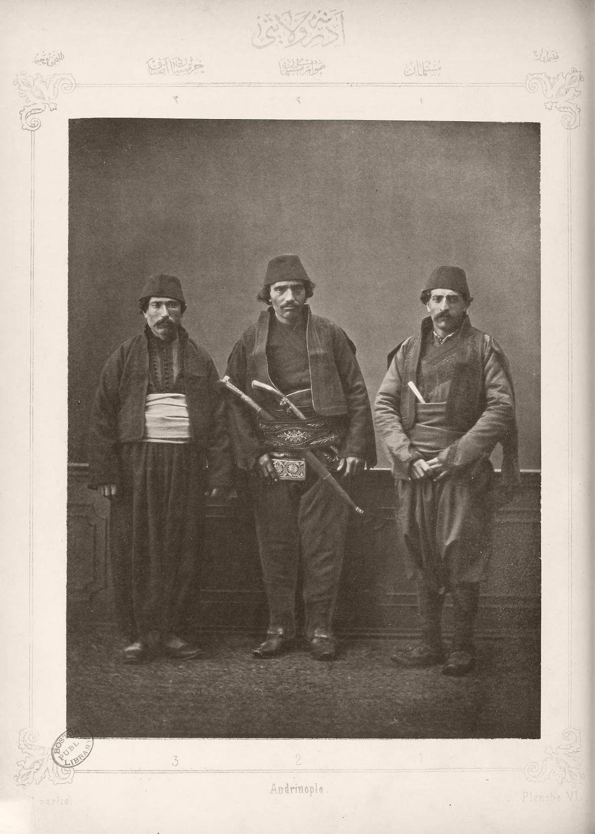 1. Muslim inhabitant of Edirne 2. Muslim horseman from Edirne 3. Christian artisan from Edirne