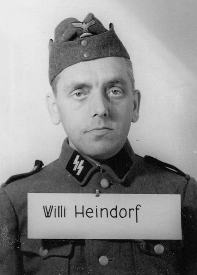 Willi Heindorf, former judicial secretary. Joined SS in 1933 as a Scharführer (Squad Leader).