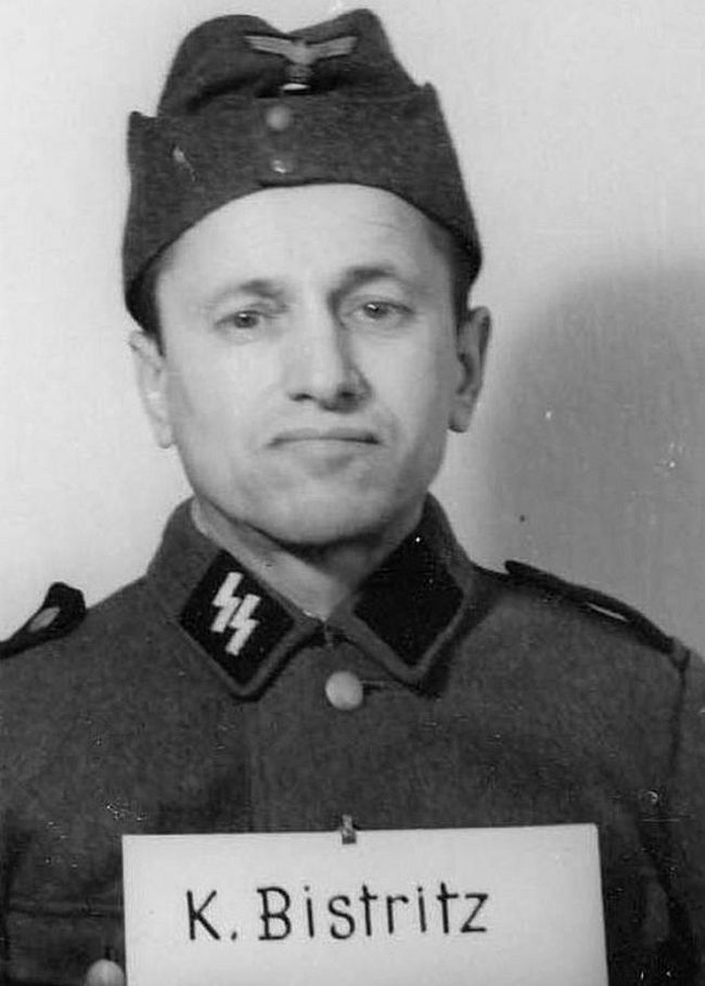 Kolomann Bistritz, former farmer. Joined SS in 1944 as a Schütze (Private).