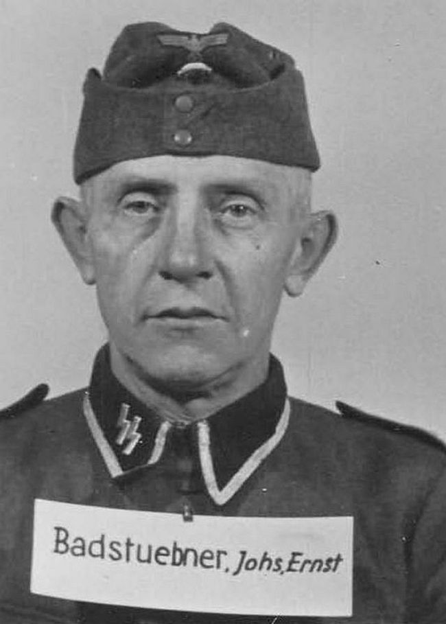 Johannes Badstuebner, former miner. Joined SS in 1944 as an Unterscharführer (Junior Squad Leader).