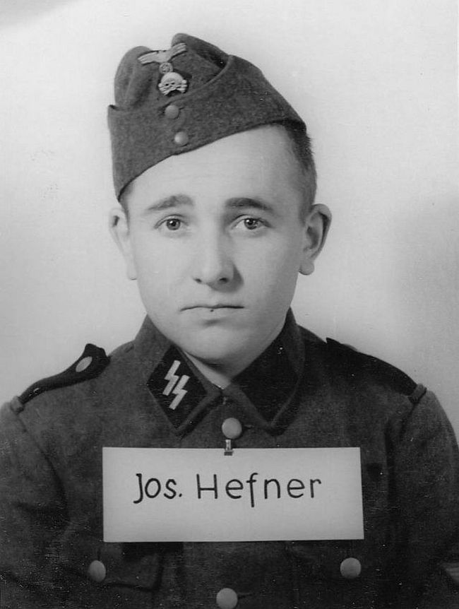 Joseph Hefner, former student merchant. Joined SS in 1942 as a Sturmmann (Stormtrooper).