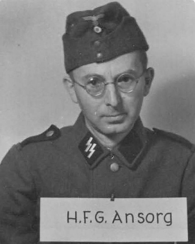Hans Ansorg, former bank clerk. Joined SS in 1933 and rose to rank of Oberscharführer (Senior Squad Leader).