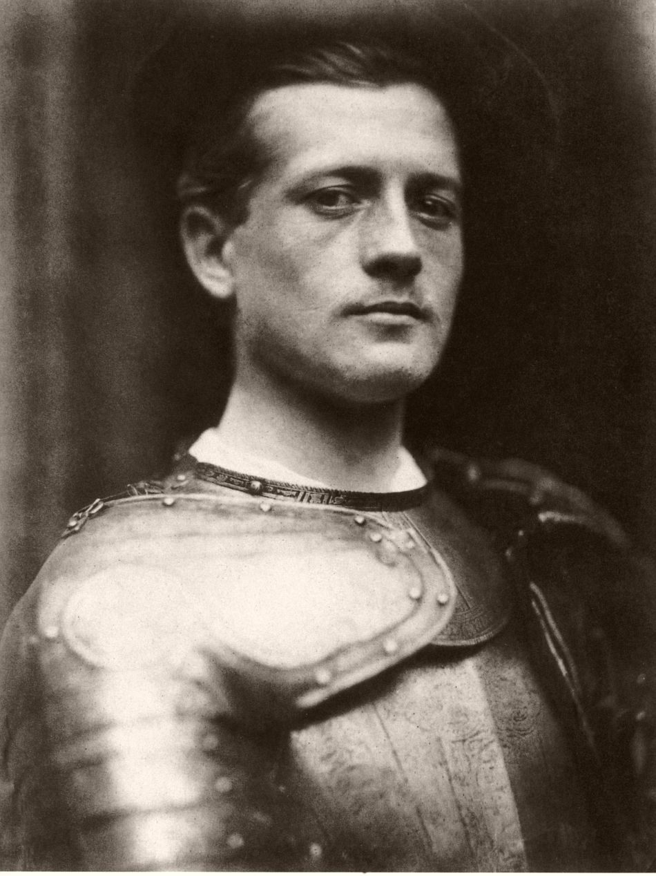 Portrait of unidentified man with an armor.