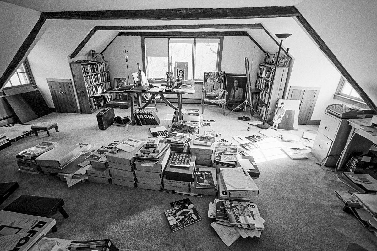 Kurt Kaindl Das stille Atelier 1, Studio Inge Morath, Roxbury, Connecticut USA