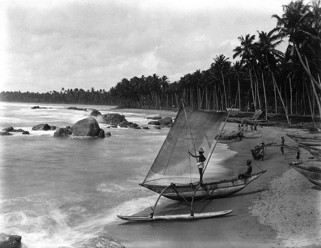 Sinhalese fishing boat, Ceylon, ca. 1880s