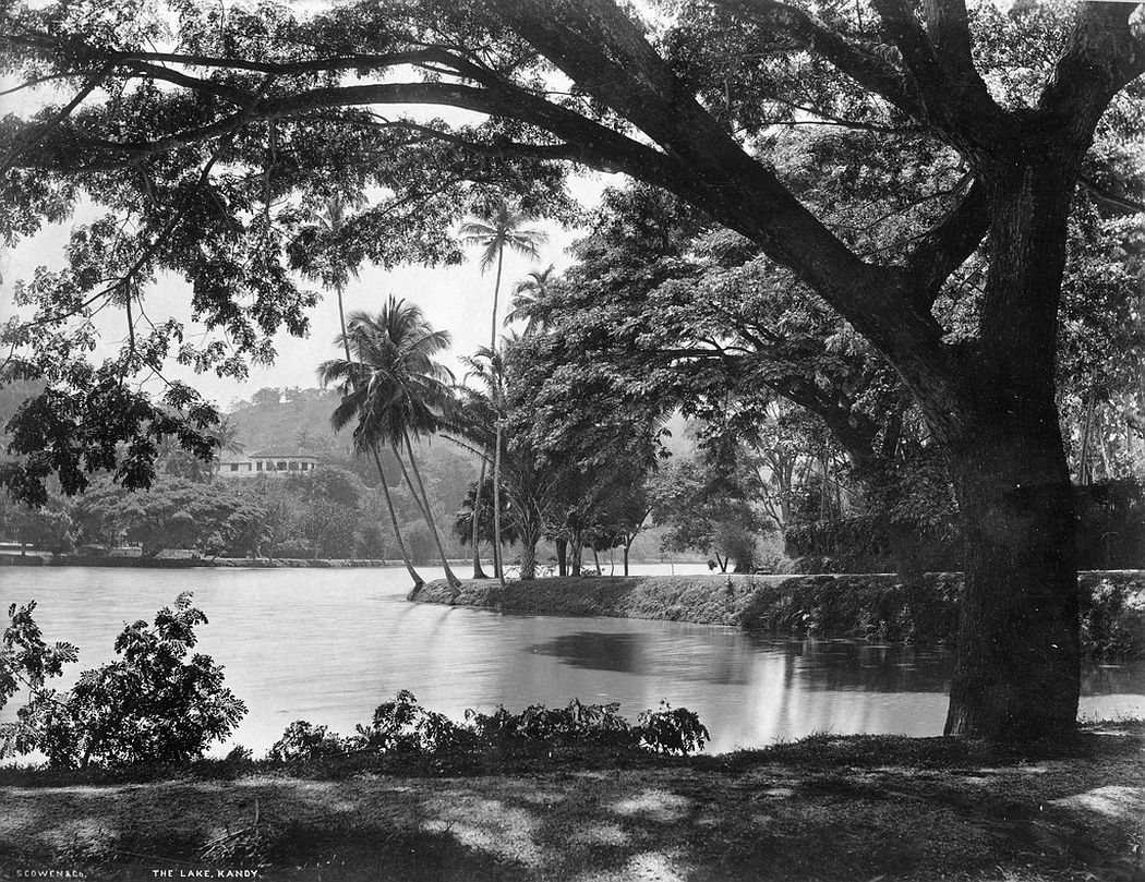 The lake, Kandy, Ceylon, ca. 1880s