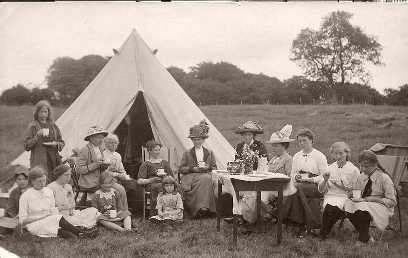 At an Edwardian picnic