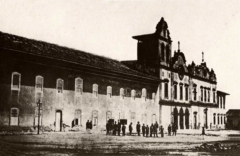 View of the Ordem Terceira and Convent of Saint Francis, 1862