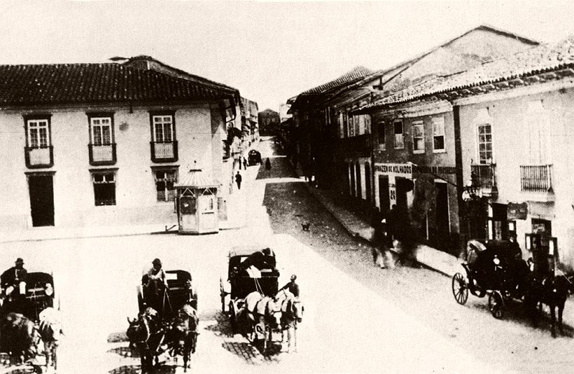 Praça da Sé and Imperador street, 1887