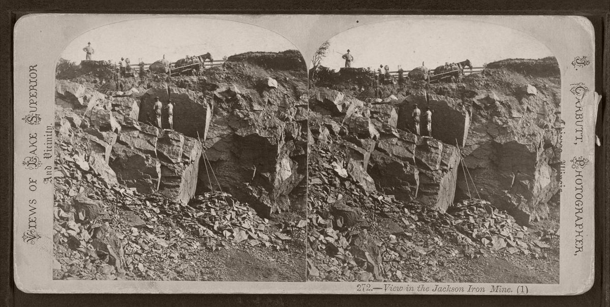 View in the Jackson Iron Mine, by Carbutt, John, 1832-1905