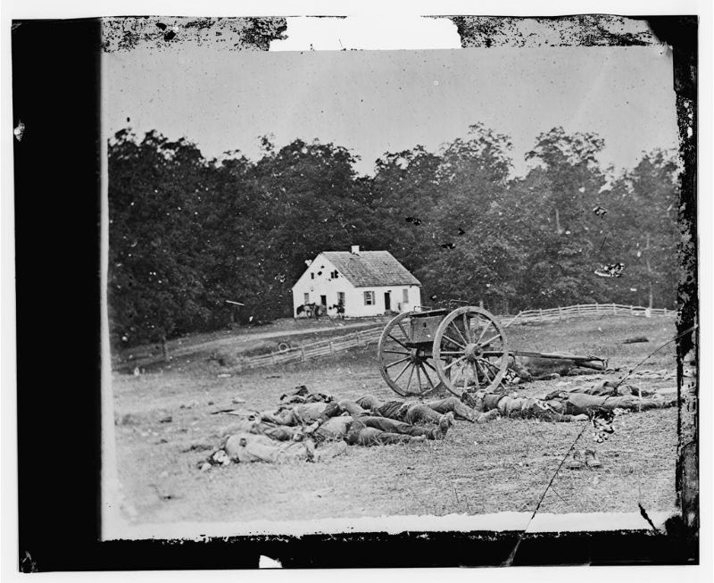 Bodies in front of the Dunker church
