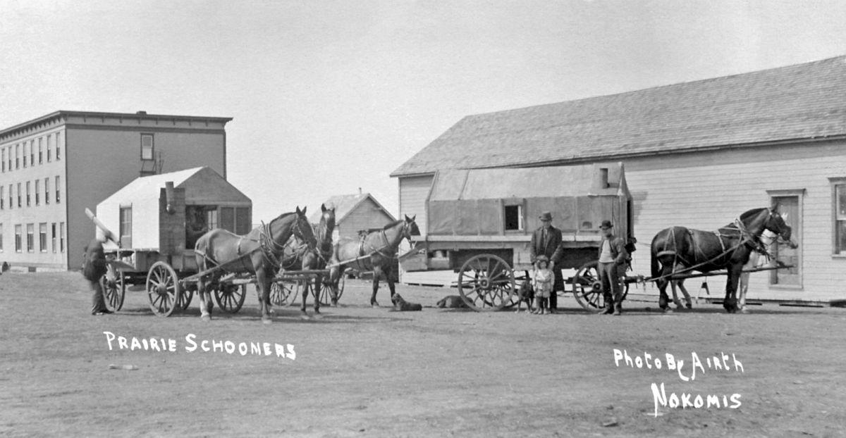 Prairie schooners, Nokomis, Saskatchewan