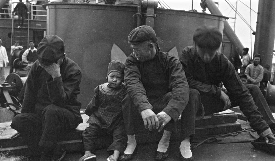 Fellow passengers to Japan, on the S.S. Siberia en route to Yokohama, 1904.