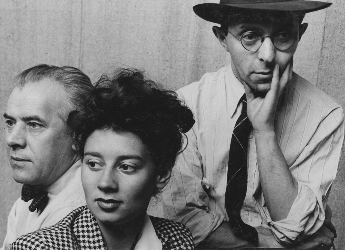 Ernest Fiene, Raphael Soyer, and Tana Bloom, 1942