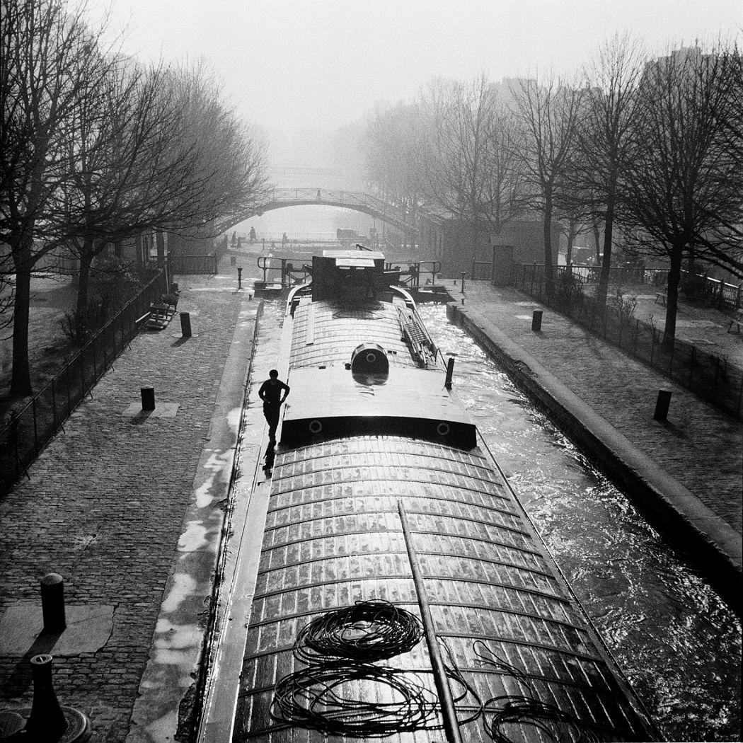 Le canal Saint Martin, Paris 1936