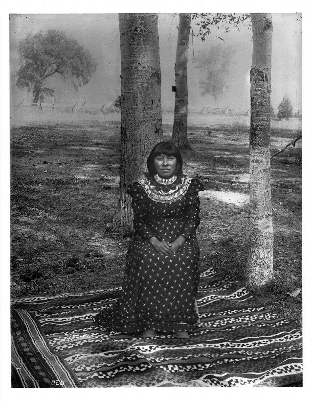 Western-educated Paiute indian girl, Yosemite Valley