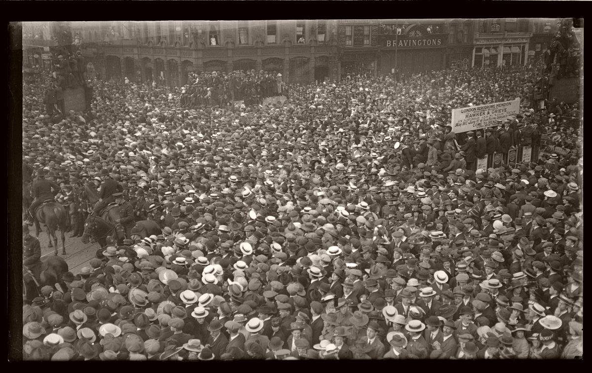 Australian Soldiers Street March, London, Rex Hazlewood, May 1919