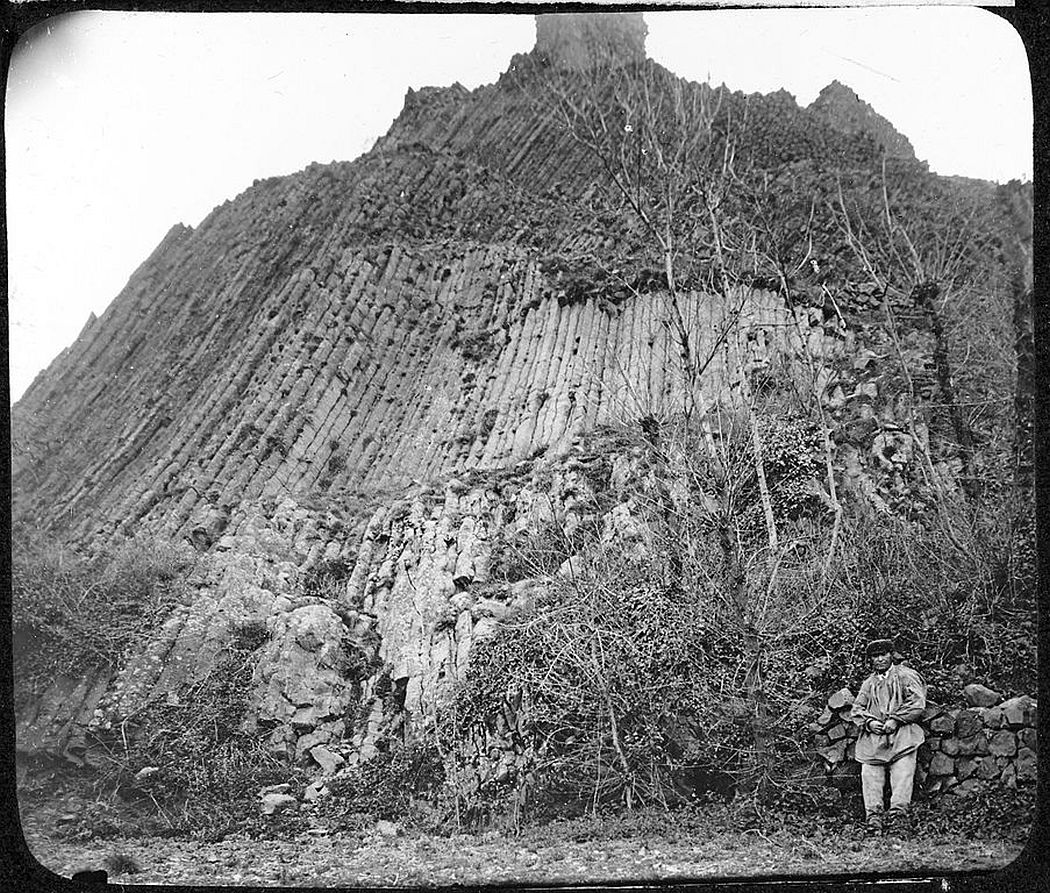 A basalt neck at Buron near Coudes, Southern France (1885)