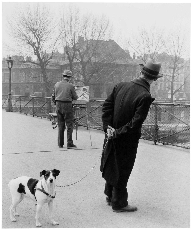 Robert Doisneau  Le Fox-Terrier Au Pont des Arts, 1953