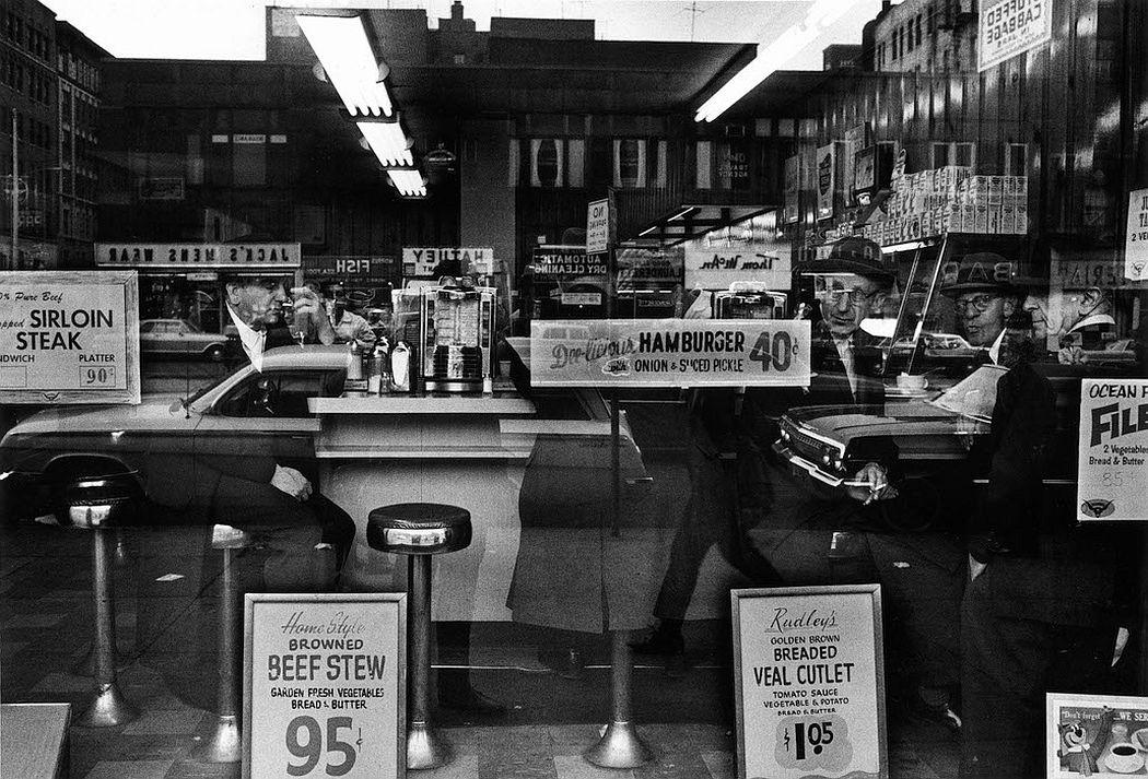 William Klein  Hamburger 40¢, New York, 1955