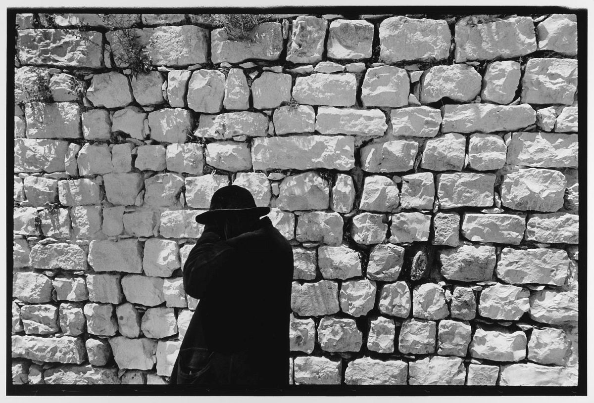 Black Coat White Wall Jerusalem, Israel (1967)