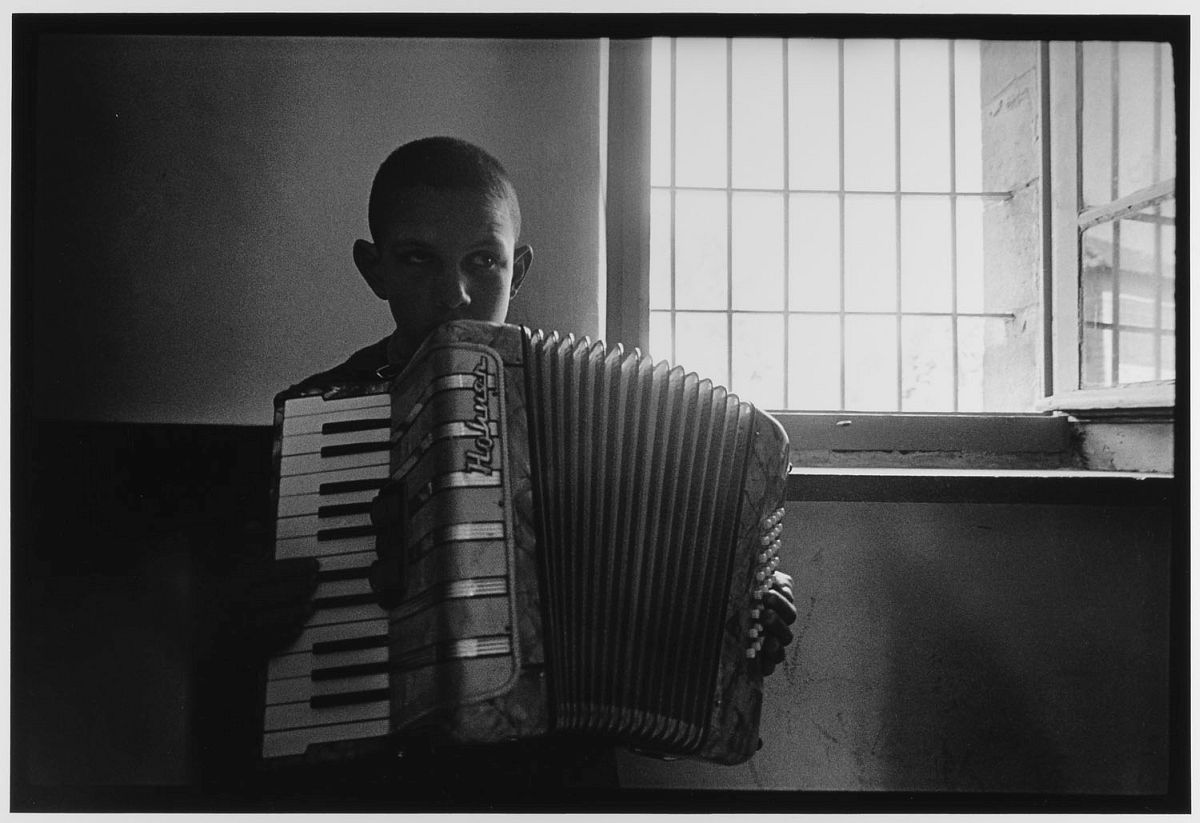 Blind Boy Playing Accordian Jerusalem, Israel (1967)