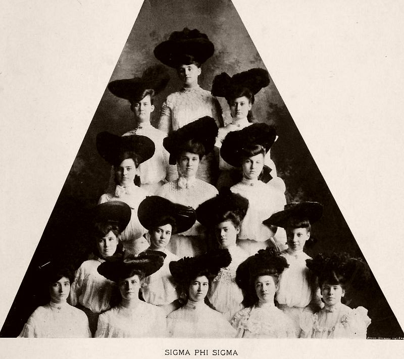 Sigma Phi Sigma, Baptist Female University, 1904