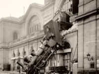 Vintage: Montparnasse Train Derailment in Paris (1895)
