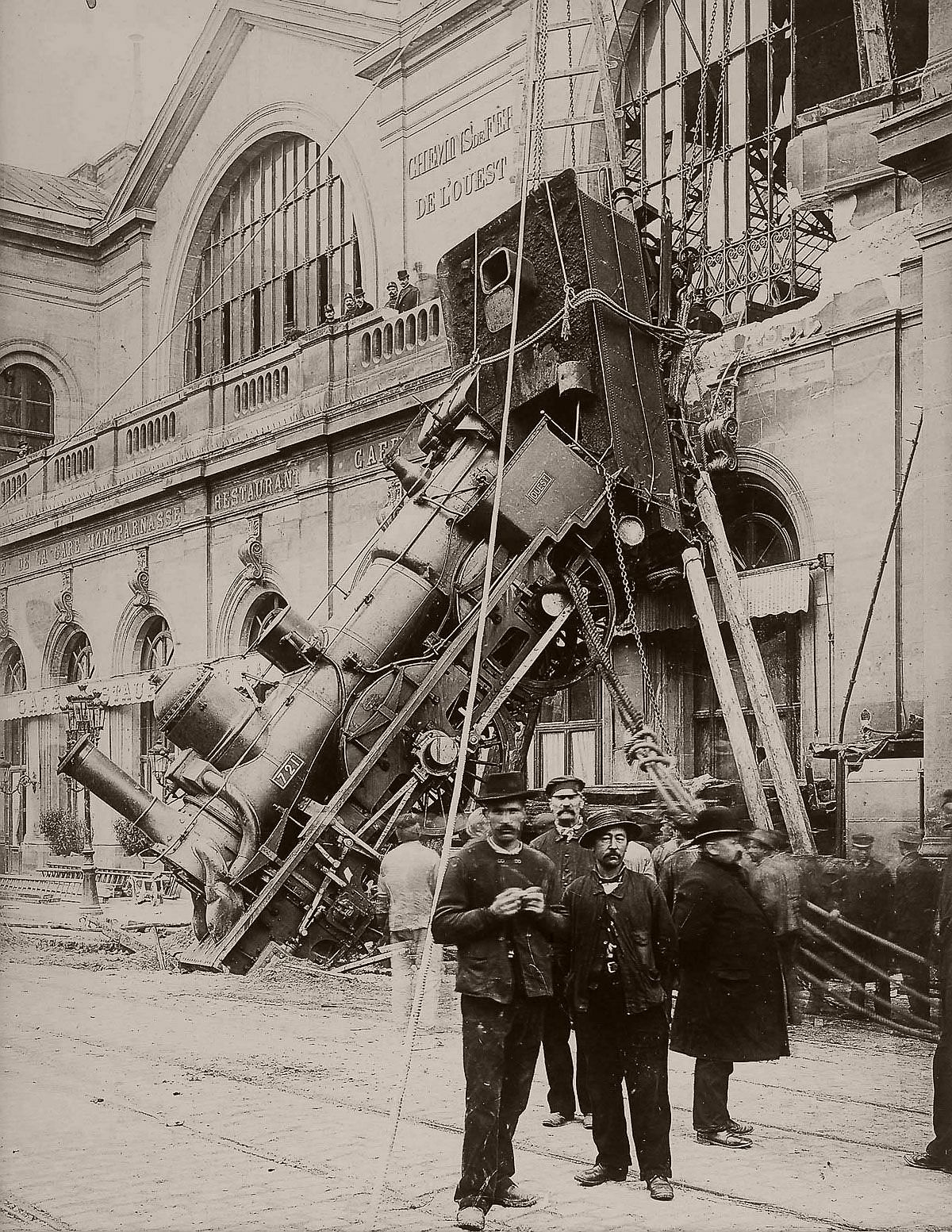 Montparnasse Train Derailment in Paris (1895)
