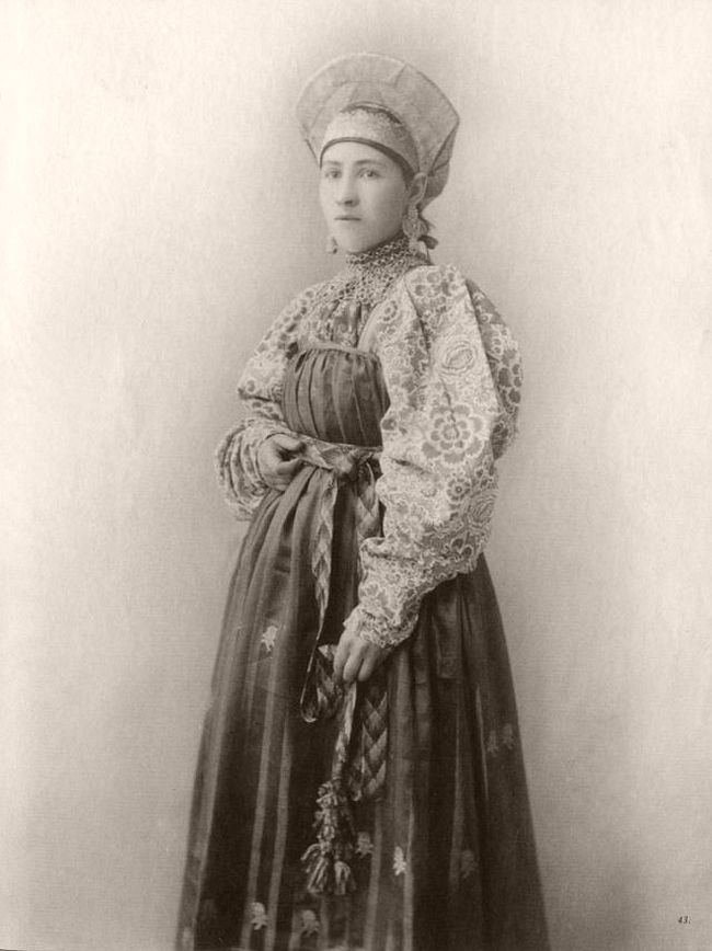 Vintage: Russian Beauties in Traditional Costumes (late 19th Century)