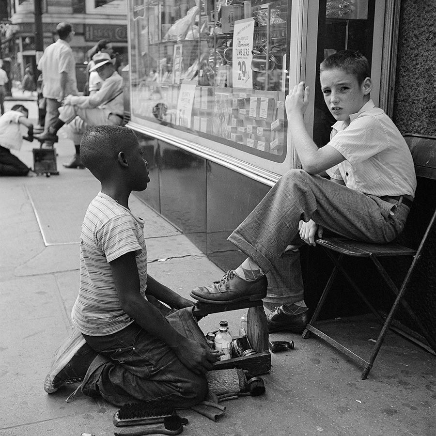 New York, NY, 1954, Printed 2016, Gelatin silver print, Ed. 13/15, Image: 12 x 12 in. / Paper: 20 x 16 in., Photographer's collection stamp signed by John Maloof with date, print date, & edition number in ink on print verso, © Estate of Vivian Maier, Courtesy of Maloof Collection and Howard Greenberg Gallery, NY