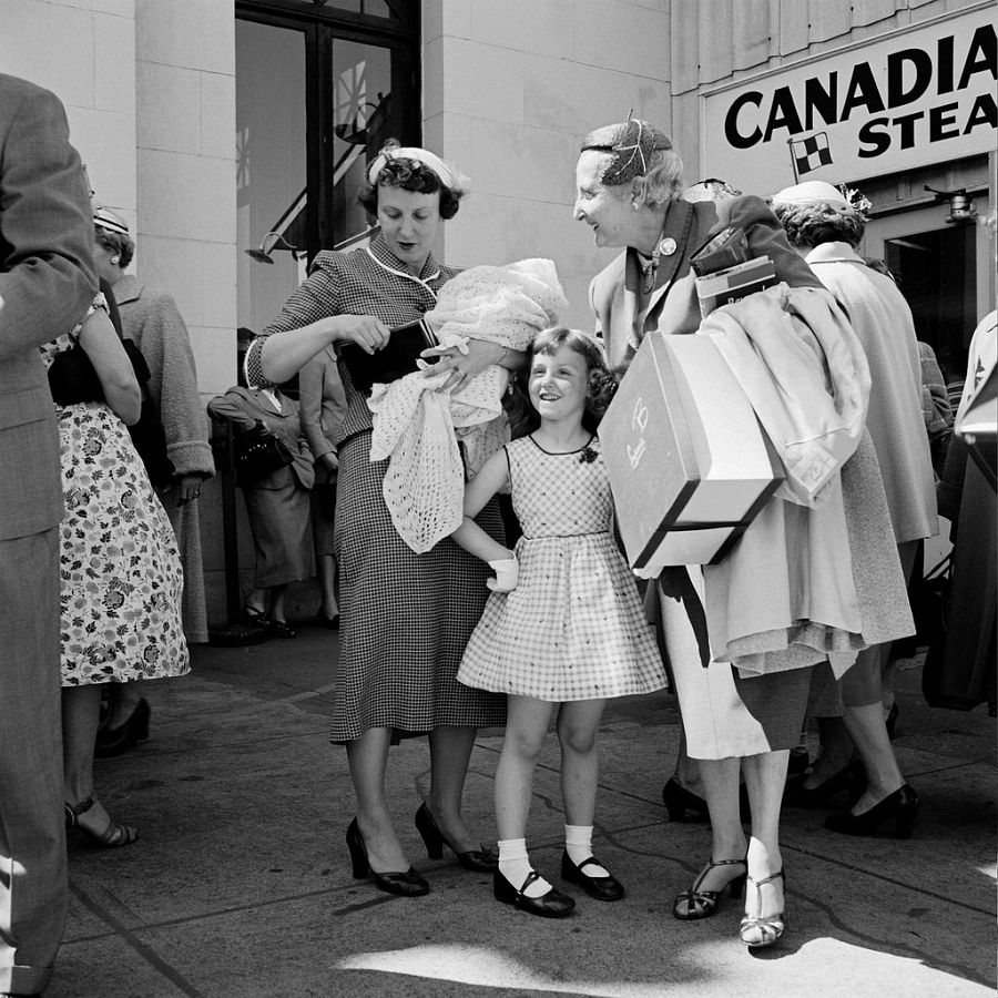 Canada, 1950, Printed 2017, Gelatin silver print, Ed. 13/15, Image: 12 x 12 in. / Paper: 20 x 16 in., Photographer's collection stamp signed by John Maloof with date, print date, & edition number in ink on print verso, © Estate of Vivian Maier, Courtesy of Maloof Collection and Howard Greenberg Gallery, NY