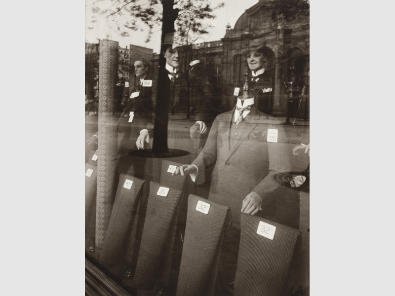 Eugène Atget, Men's Fashions, 1925, gelatin silver print. University of Michigan Museum of Art, Museum purchase, 1974/1.107