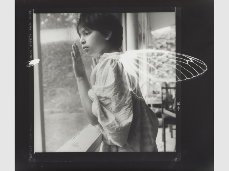 Joanne Leonard, Winged Ones, 1987, gelatin silver print. University of Michigan Museum of Art, Gift of the artist, 2016/2.19, courtesy of Joanne Leonard