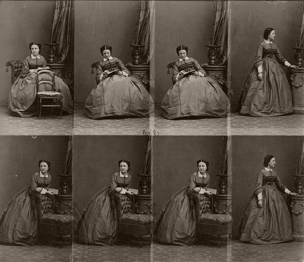 Andre Adolphe-Eugene Disderi - Mme du Bouzay - ca 1860