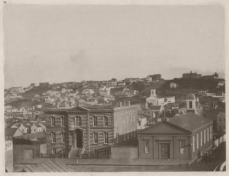 View from Kearny street - in the foreground the Orphans' Asylum
