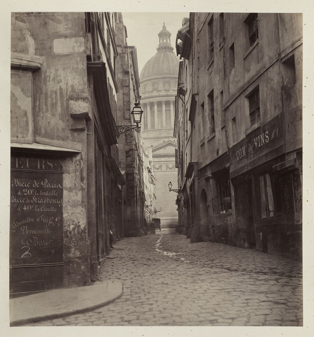 Charles Marville French, 1816–1879 Rue des Sept-Voies, from rue Saint-Hilaire 1865–69