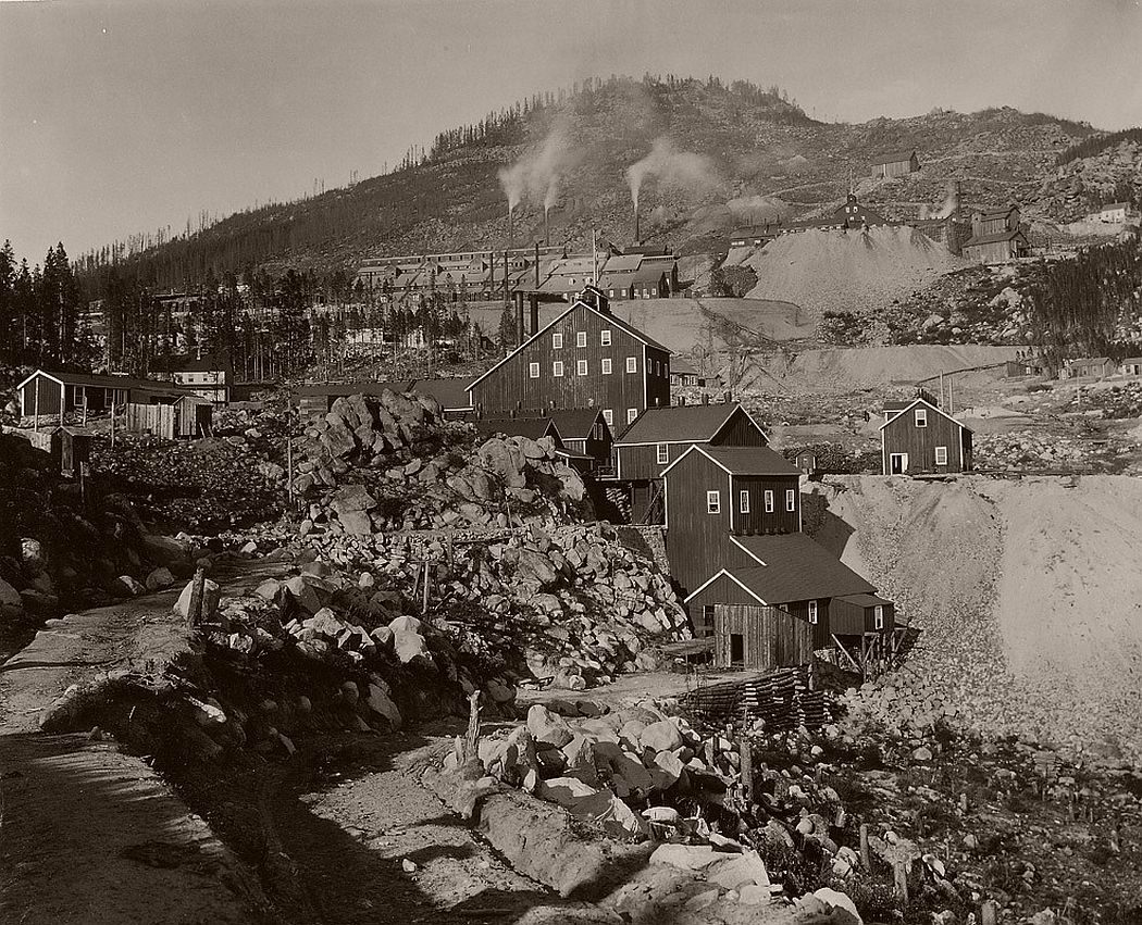 Frank Jay Haynes, Mining Town Late 1880s/early 1890s