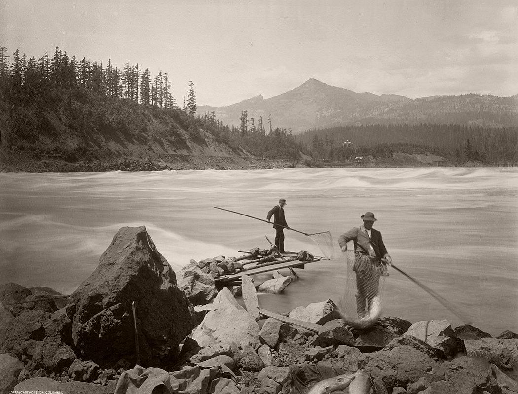 Frank Jay Haynes, Cascades of Columbia 1880