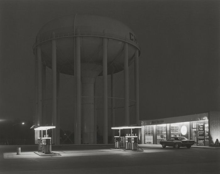 George Tice (b. 1938, Newark) Petit's Mobil Station, Cherry Hill, New Jersey, 1974 Platinum/palladium print