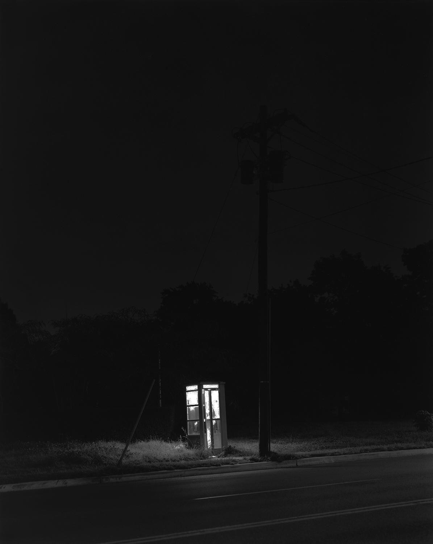 George Tice (b. 1938, Newark) Telephone Booth, 3 A.M., Rahway, NJ 1974, printed 1/28/06 Gelatin silver print