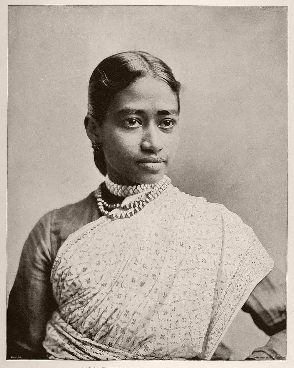 Mrs. Theresa Joseph (the wife of Mr. D. Joseph), an East Indian woman from Ceylon (now known as Sri Lanka).