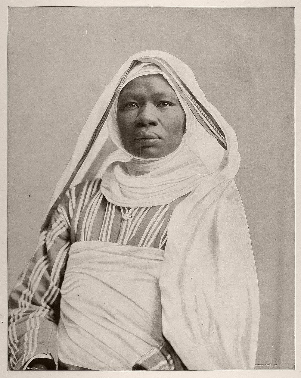 Mahbouba Um Zanuba, a forty-year-old woman from the Sudan who was said to have been the mother of twenty-three children.