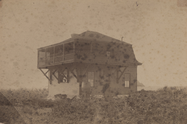 """Winslow Homer's Studio,"" ca. 1884, albumen silver print by an unidentified photographer. Bowdoin College Museum of Art, Brunswick, Maine."