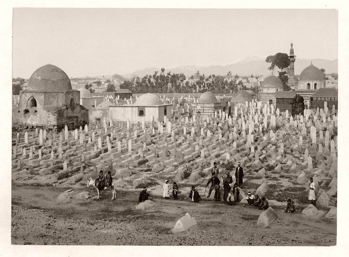 The cemetery where the family of Mahomet are buried, Damascus, Holy Land, (Syria)