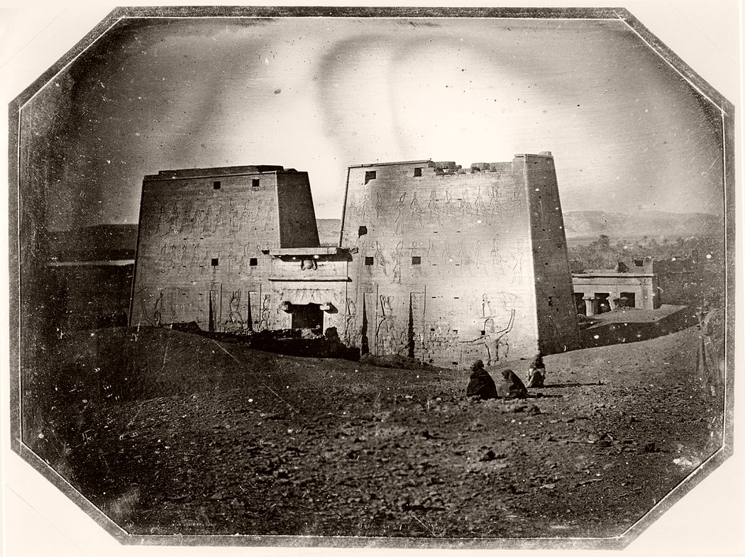 Itier photographed this daguerreotype of Madinat Habu in Luxor in 1845 or 1846.
