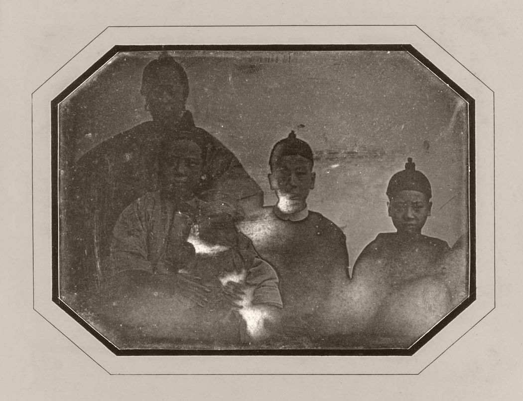 Famille de Pon Tin Quoi, octobre 1844, daguerréotypie © Jules Alphonse Eugène Itier