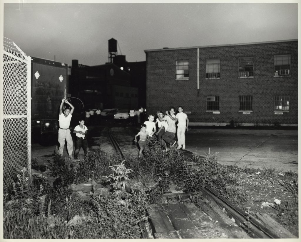 Edgar R. Guinea, <em>Entrance to Yard, Railway Express...</em>, 1961. U.S. President's Railroad Commission Photograph. Kheel Center for Labor-Management Documentation and Archives, Cornell University Library.