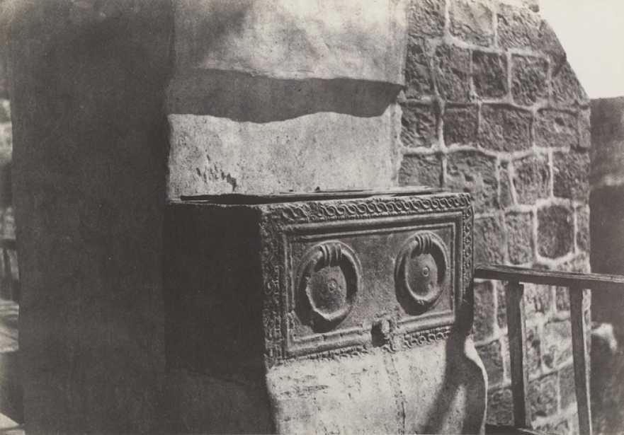 "Auguste SALZMANN (French, 1824-1872) ""Jérusalem. Sarcophage Judaïque"", 1854, Blanquart-Évrard process salt print from a paper negative, 23.2 x 33.2 cm"